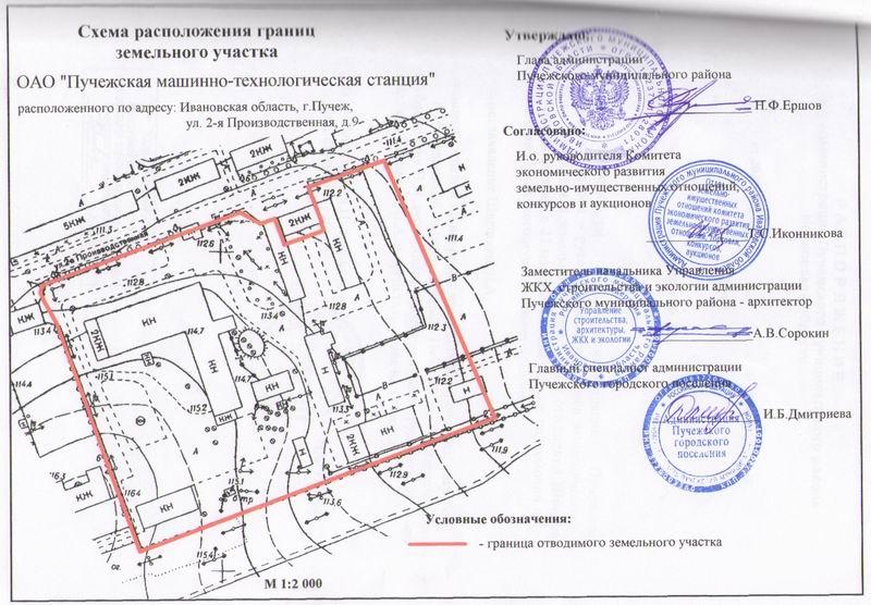 Схем расположения границ земельного участка