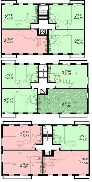 Типовая перепланировка домов серии i-515 9м.