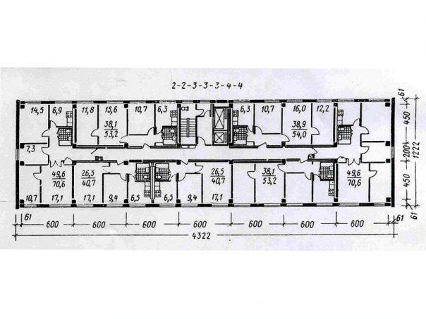 Типовая перепланировка домов серии 1мг-601д.