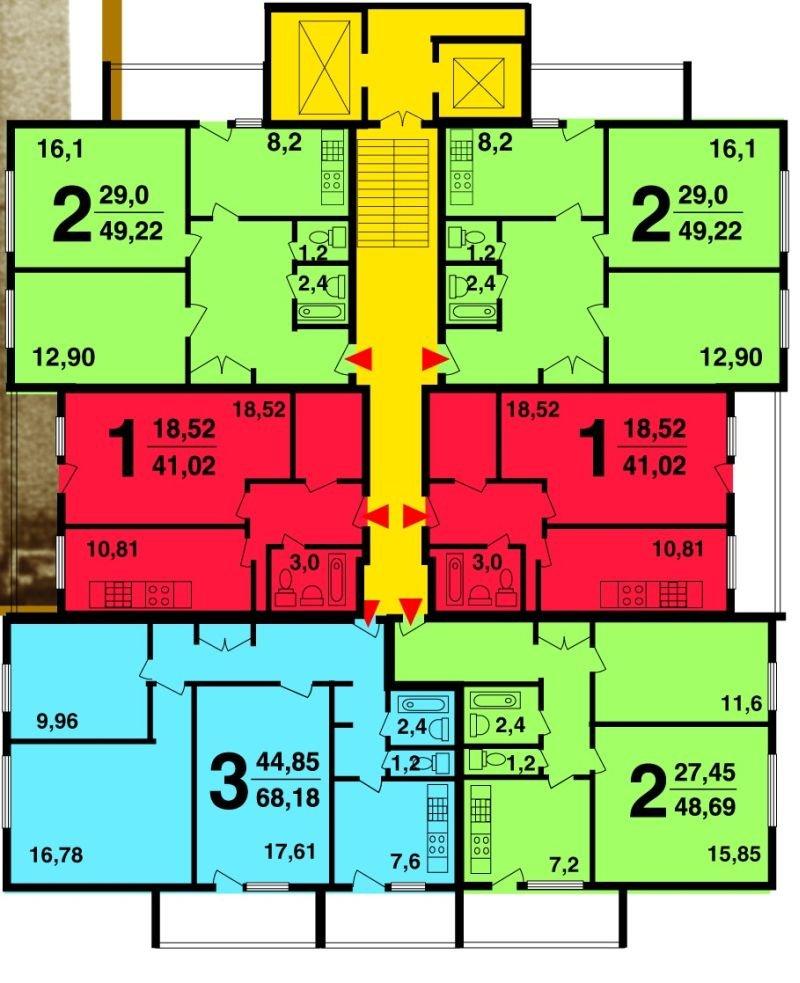 Серия ii-67 тишинская - типовая перепланировка многоквартирн.