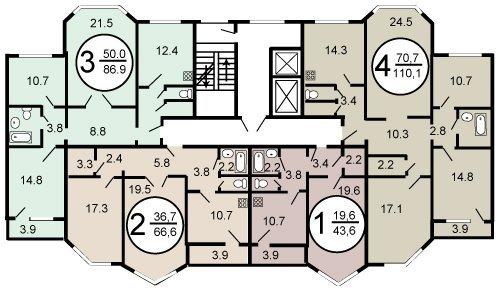 П 144 планировка балкон.